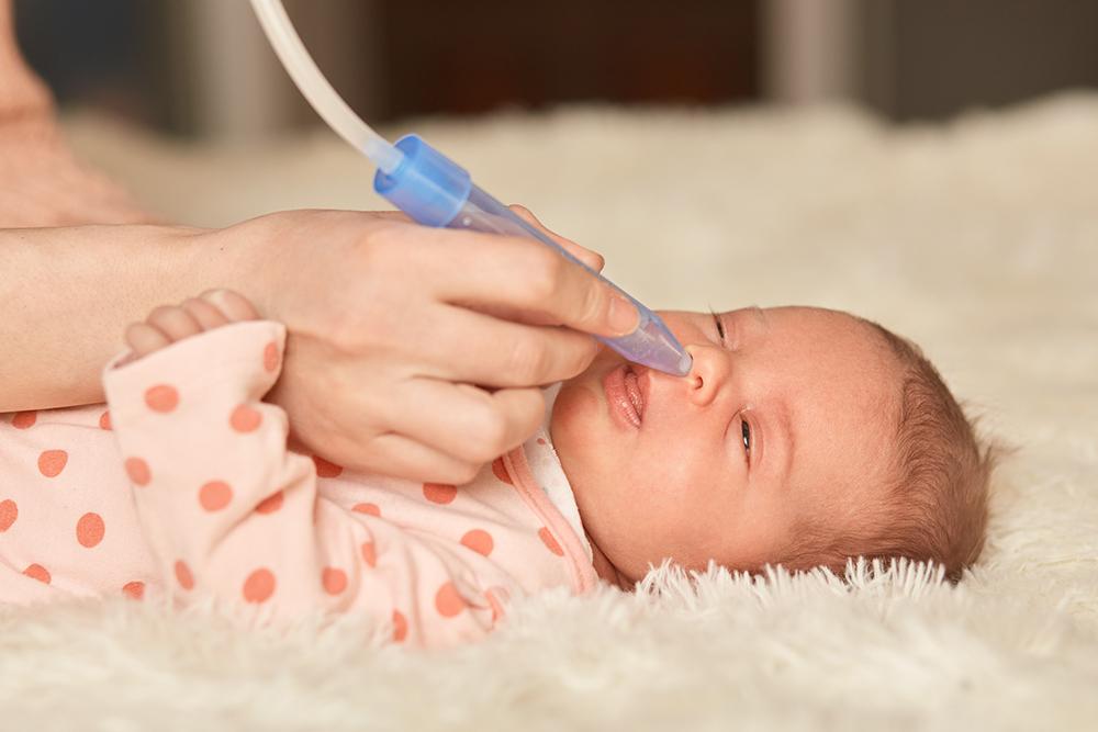 Lavados nasales en bebés